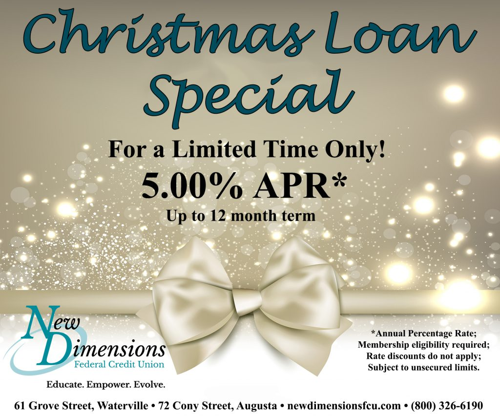 Image Ad: Chrismas Loan Special: For a Limited Time Only!  5.00% APR*