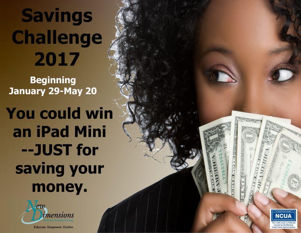 Savings Challenge 2017 Poster