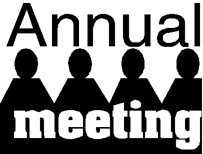 Annual Meeting Text Over Shadow Of 4 People