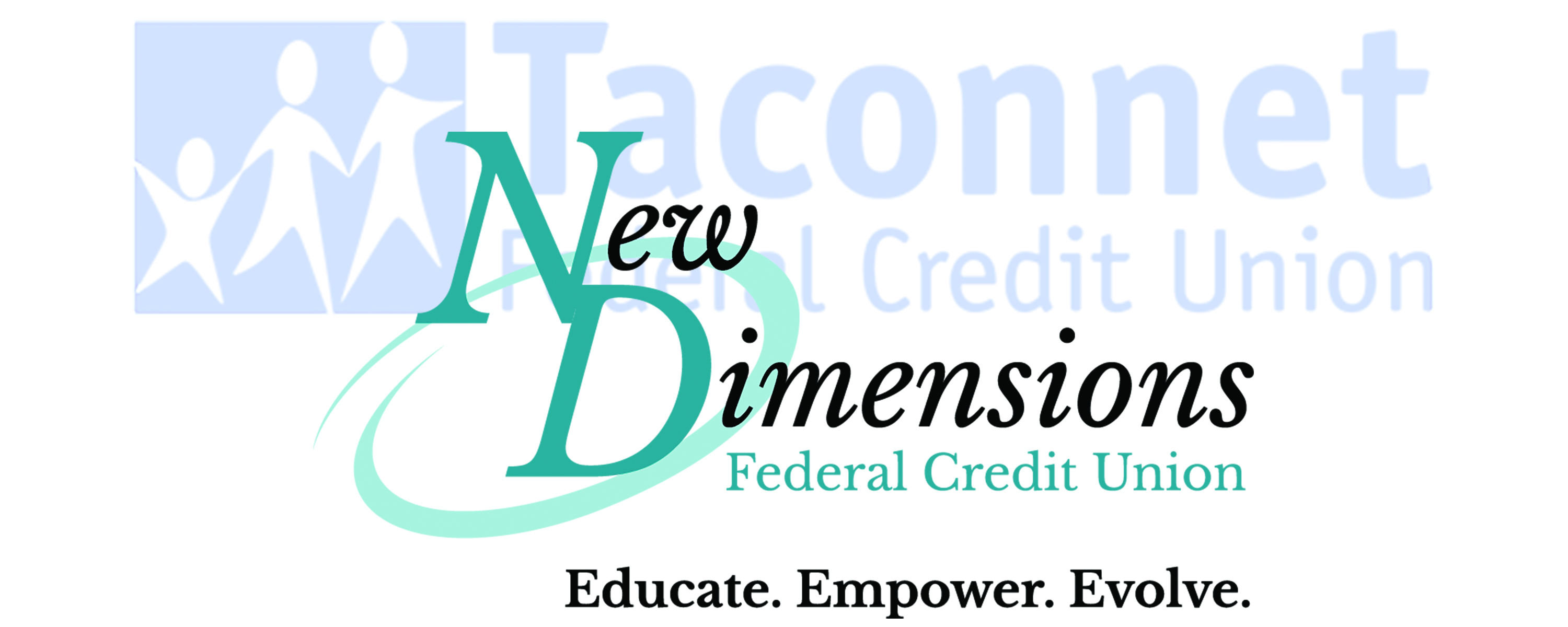 New Dimension Logo With Taconnet Faded In Background.merger
