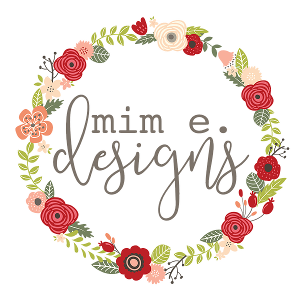 Flower Wreath With Mem E. Designs Logo