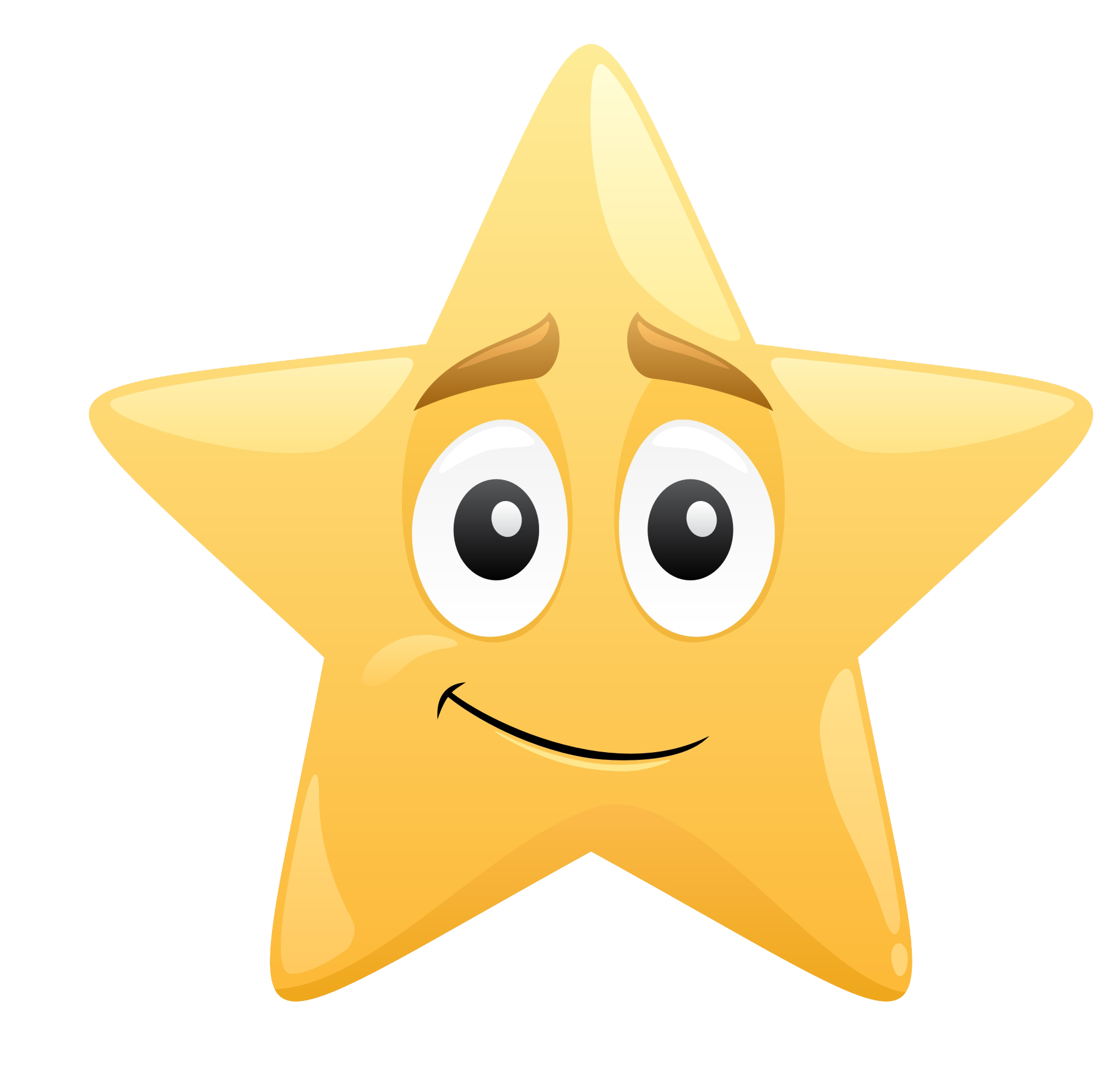 star with smiley face