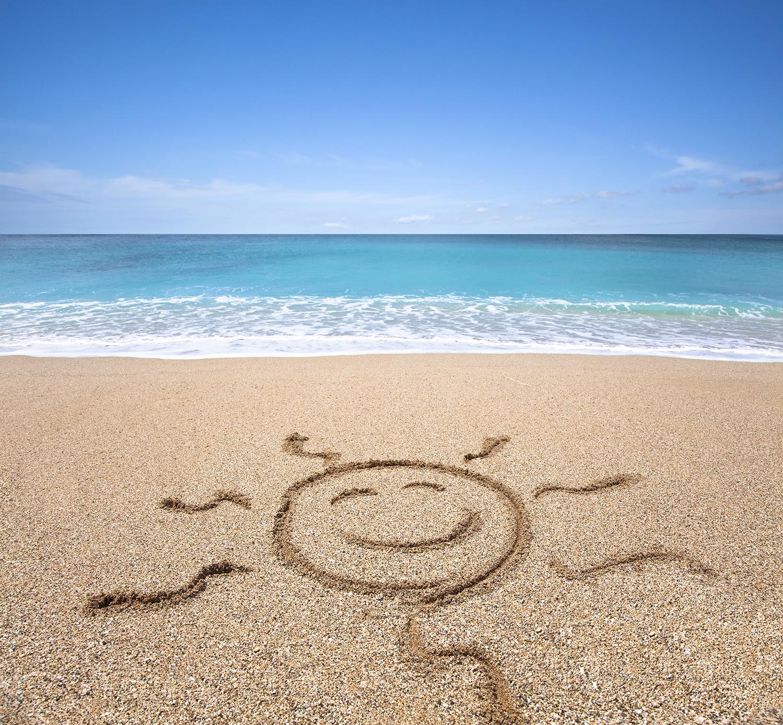 Beach. Sand Sun