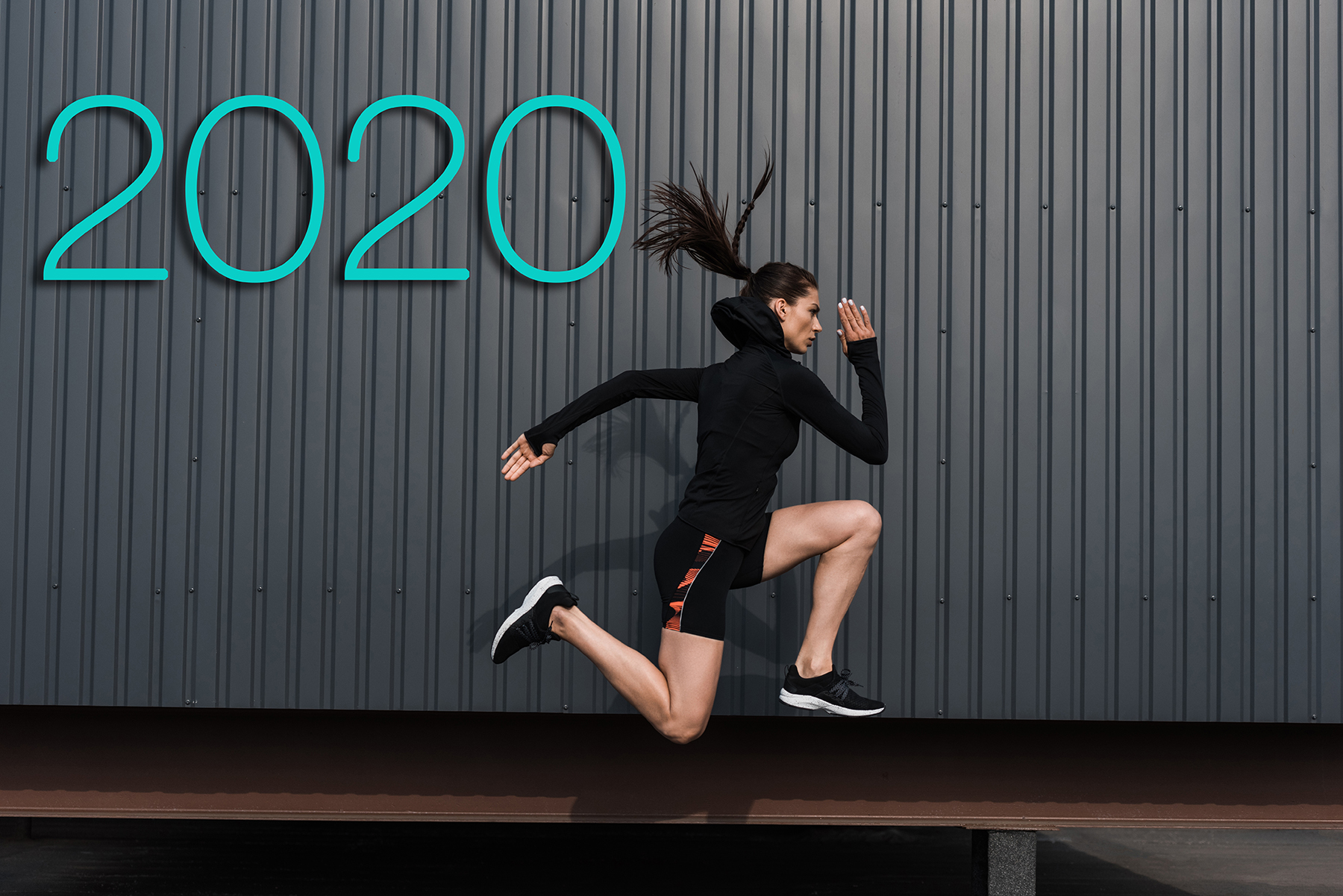2020 Fitness Woman Running