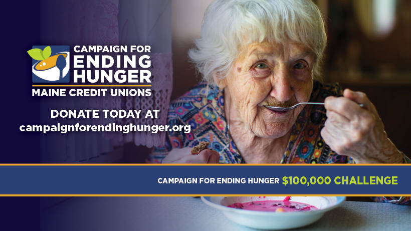 Maine Credit Unions Campaign For Ending Hunger $100,000 Challenge