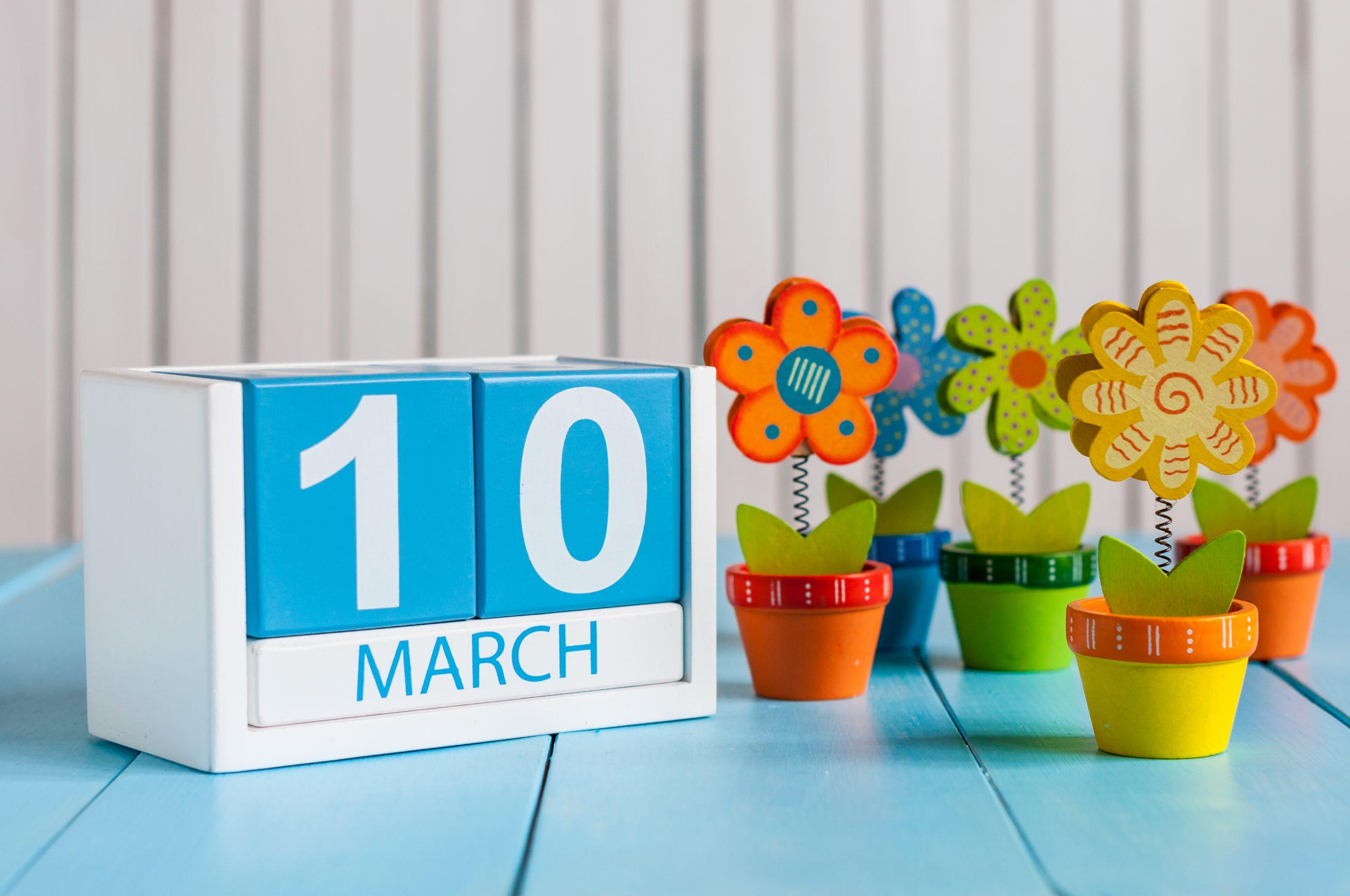 March 10 calendar day